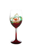 Beautiful painting stained glass  of wine glass Royalty Free Stock Photos