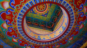 Beautiful painting at Wat Borom Racha Kanchana Phi Sek Anuson Wat Leng Noei Yi 2, nonthaburi, thailand Stock Images