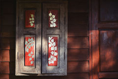 The beautiful painting of window panel Stock Photo