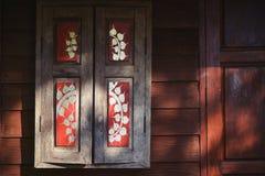 The beautiful painting of window panel Stock Photo