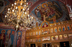 Beautiful paintings in an orthodox church Royalty Free Stock Images