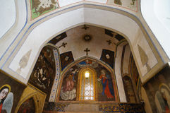 Beautiful paintings in Vank Cathedral, Isfahan,Iran. Vank Cathedral or The Church of the Saintly Sisters was built in 1664 Royalty Free Stock Image