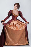 Beautiful pair of stylized medieval costumes Royalty Free Stock Image