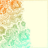 Beautiful paisley background Stock Photography