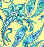 Beautiful paisley pattern in gentle colors. Amazing detailed seamless paisley pattern for fashion or interior Royalty Free Stock Image