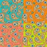 Beautiful paisley seamless pattern with flowers Royalty Free Stock Photo