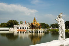 Beautiful palace. In thailand name is Bang pa in Royalty Free Stock Image