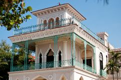 Beautiful Palace In Cienfuegos Stock Photos