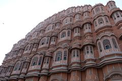 The pink wind palace in Jaipur, Rajasthan, India stock photography