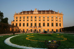 Beautiful palace of Schoenbrunn in Vienna / Austri Royalty Free Stock Photo