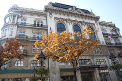 Beautiful palace of the Serbian Academy of Sciences and Arts in. Belgrade is located in the Knez Mihailova Street. It is an remarkable example of Modernism and stock images