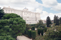 Beautiful palace of Spanish kings and gardens of Sabatini Stock Photo