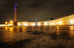 Beautiful Palace square in Saint Petersburg Stock Photos