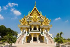 Beautiful Palace at Wat Khun Inthapramun. Wat Khun Intrapramun is a nice place in Angthong province, Thailand. There is a beautiful Palace Stock Photography