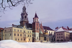 Beautiful palace of Wawel in Krakow Royalty Free Stock Images