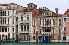 Beautiful palaces of Canal Grande Royalty Free Stock Images