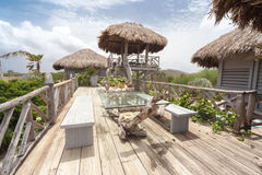 A beautiful Palapa House - outside. A beautiful Palapa House on the tropical island of Curacao Royalty Free Stock Photography