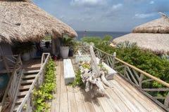 A beautiful Palapa House - sea view Stock Image
