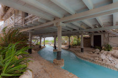 A beautiful Palapa House - swimming pool Royalty Free Stock Photography