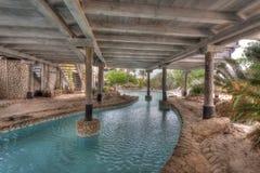 A beautiful Palapa House - swimming pool Royalty Free Stock Photos