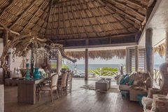 A beautiful Palapa House Royalty Free Stock Images