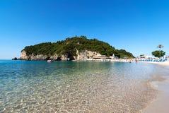 Beautiful Paleokastritsa beach on Corfu. Kerkyra, Greece Royalty Free Stock Image