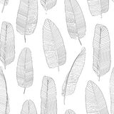 Beautiful Palm Tree Leaf Silhouette Seamless Pattern Background Vector Illustration. EPS10 vector illustration