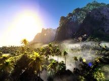 Beautiful palm trees Royalty Free Stock Photo