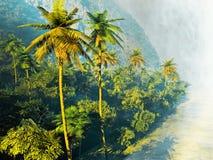 Beautiful palm trees Stock Photos