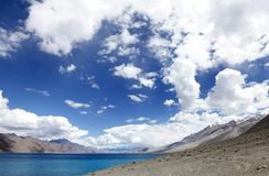 Beautiful Pangong lake Royalty Free Stock Photography