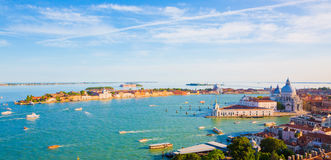 Beautiful panorama Aerial View of Venice Royalty Free Stock Images