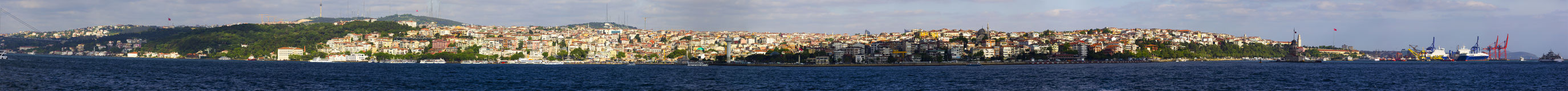 Beautiful panorama of Asian part of Istanbul Royalty Free Stock Image