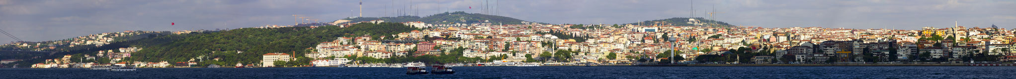 Beautiful panorama of the Asian part of Istanbul Royalty Free Stock Photos