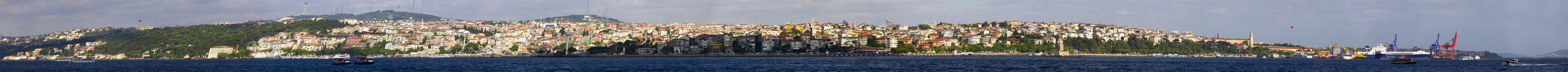 Beautiful panorama of the Asian part of Istanbul Royalty Free Stock Image