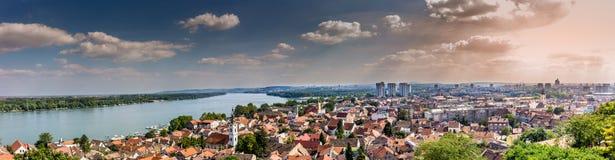 Beautiful panorama of Belgrade and river Sava from Gardos tower Stock Image