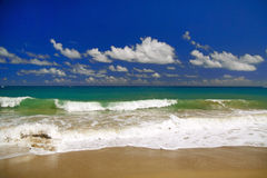 Beautiful panorama of  blue sky and Atlantic Ocean Stock Photos