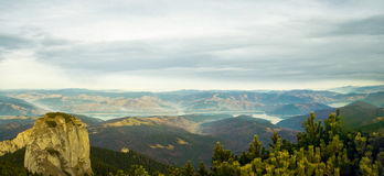 Beautiful panorama of Ceahlau mountains Royalty Free Stock Photography