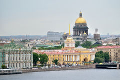 Beautiful panorama of center of St. Petersburg - bird's-eye view Royalty Free Stock Image
