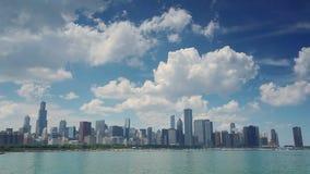 Beautiful panorama of Chicago, Illinois stock video