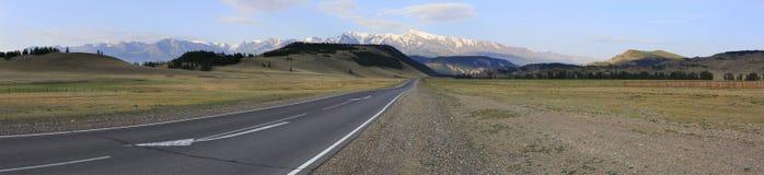 Beautiful panorama of Chuysky Trakt in Altai Stock Photography