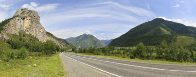 Beautiful panorama of Chuysky Trakt in Altai Royalty Free Stock Image