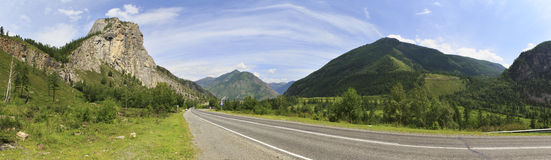 Beautiful panorama of Chuysky Trakt in Altai Royalty Free Stock Images