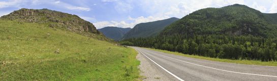 Beautiful panorama of Chuysky Trakt in Altai Royalty Free Stock Photo