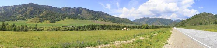 Beautiful panorama of Chuysky Trakt in Altai Stock Image