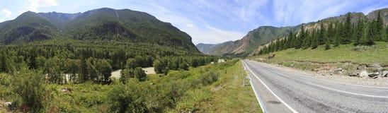 Beautiful panorama of Chuysky Trakt in Altai Stock Photo