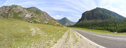 Beautiful panorama of Chuysky Trakt in Altai Stock Images