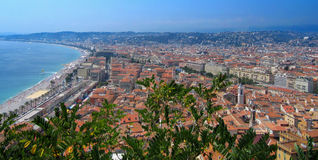 Beautiful Panorama City of Nice In France Royalty Free Stock Photo
