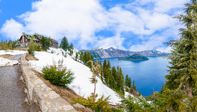 Beautiful Panorama of Crater Lake Stock Image