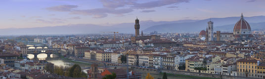 Beautiful  panorama of Florence. Stock Photos