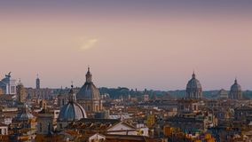 Beautiful panorama of the gorgeous city of Rome, Italy.  stock video footage